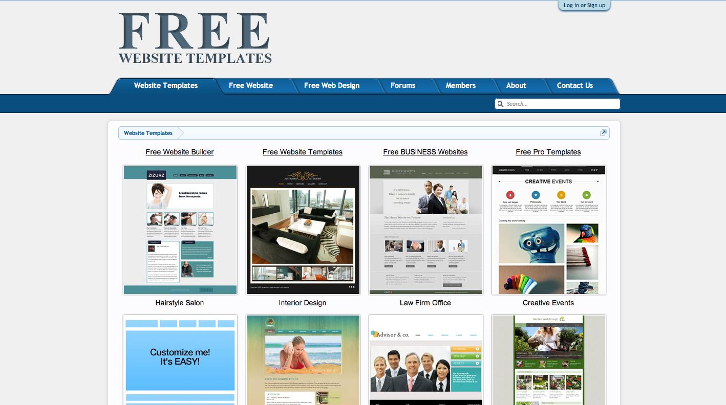 Web templates gratis 7 siti internet dove trovarli for Free web templates