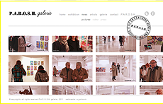 P.A.R.O.S.H. Galerie Homepage | web code