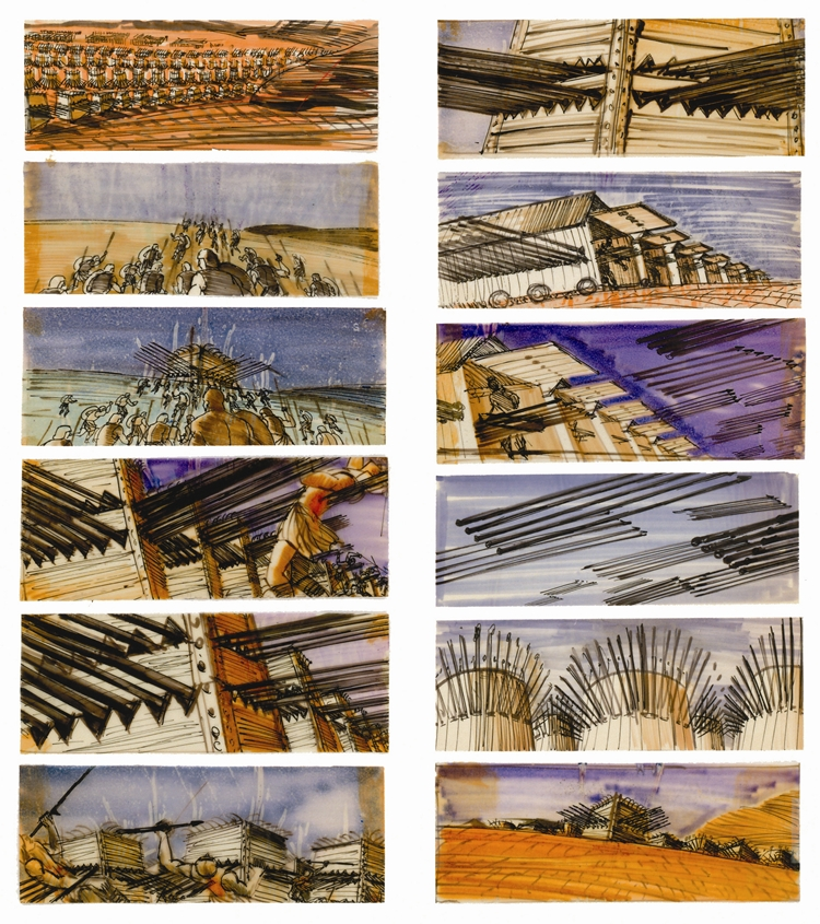 Spartacus-storyboard-by-Saul Bass