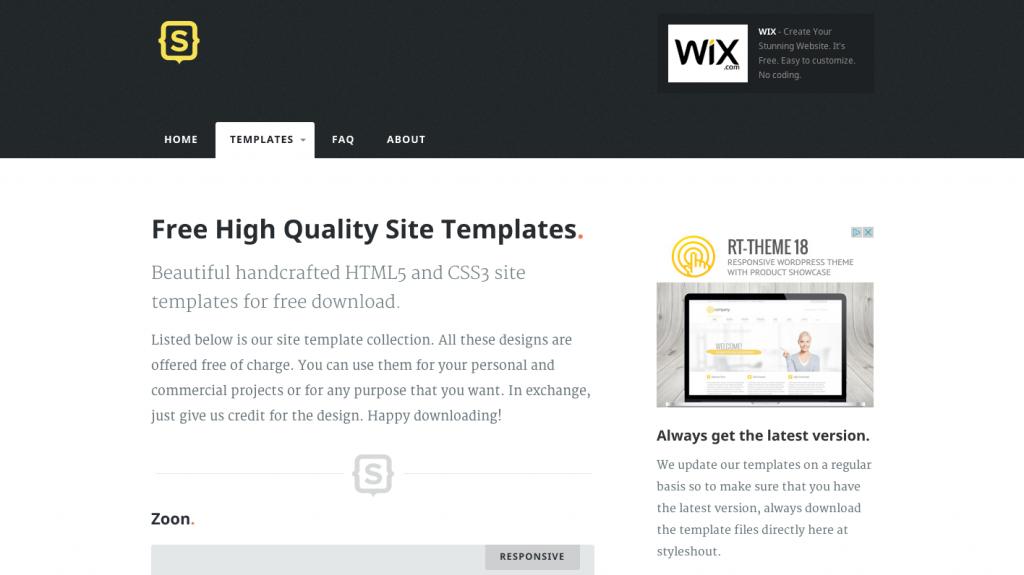 Styleshout_web templates