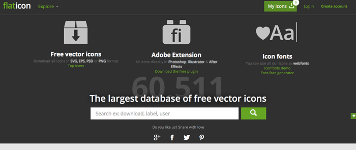 Flat Icon-web design