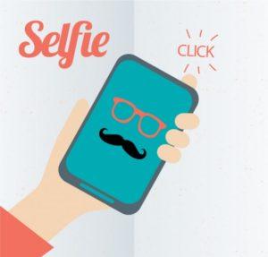 selfie creativo